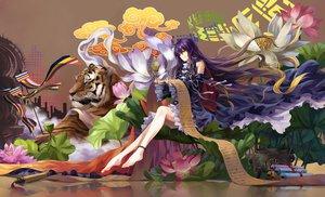 Rating: Safe Score: 167 Tags: animal hijiri_byakuren neko_(yanshoujie) tiger touhou User: Wiresetc