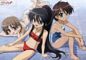 Rating: Safe Score: 35 Tags: bikini flat_chest fujii_masahiro megami ogata_matake scan shakugan_no_shana shana swimsuit yoshida_kazumi User: Oyashiro-sama