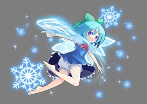 Rating: Safe Score: 11 Tags: aqua_hair barefoot bloomers blue_eyes bow cirno dress fairy loli short_hair touhou transparent wings z.o.b User: RyuZU