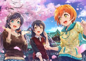 Rating: Safe Score: 41 Tags: hoshizora_rin long_hair love_live!_school_idol_project shamakho short_hair signed sonoda_umi tagme toujou_nozomi User: Dreista