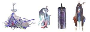 Rating: Safe Score: 22 Tags: black_hair fan hat headdress instrument japanese_clothes kimono long_hair necklace orange_eyes original red_eyes sheepeden water white white_hair User: otaku_emmy