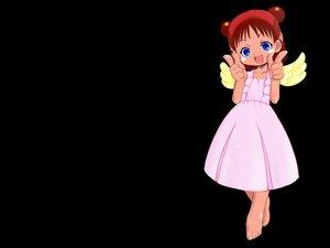 Rating: Safe Score: 3 Tags: black blue_eyes dress jungle_wa_itsumo_hale_nochi_guu red_hair wings User: Oyashiro-sama