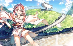 Rating: Safe Score: 163 Tags: 90i aliasing anthropomorphism braids cherry_blossoms clouds flowers japanese_clothes lolita_fashion original pink_eyes pink_hair ponytail sergestid_shrimp_in_tungkang sky xuan_ying User: Flandre93