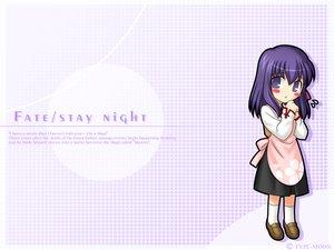 Rating: Safe Score: 18 Tags: chibi dress fate_(series) fate/stay_night matou_sakura purple_eyes purple_hair short_hair socks User: patokite91