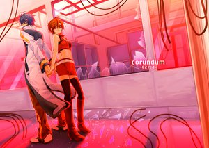 Rating: Safe Score: 13 Tags: boots jpeg_artifacts kaito male meiko red short_hair vocaloid User: HawthorneKitty