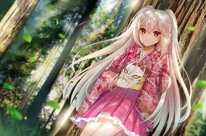 Rating: Safe Score: 69 Tags: blonde_hair dress forest long_hair mask original red_eyes tagme_(artist) tree User: BattlequeenYume