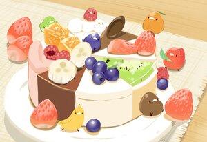 Rating: Safe Score: 25 Tags: animal bird chai_(artist) chocolate food fruit nobody orange_(fruit) original signed strawberry User: otaku_emmy