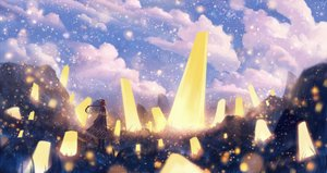 Rating: Safe Score: 70 Tags: bou_nin braids clouds dress long_hair original scenic sky User: Flandre93