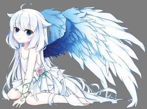 Rating: Safe Score: 96 Tags: barefoot flowers loli long_hair original transparent vector wedding_attire white wings yuu_(shiroyurine) User: RyuZU