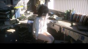 Rating: Safe Score: 247 Tags: 3d black_hair book headphones novelance original panties paper shirt short_hair underwear User: RyuZU