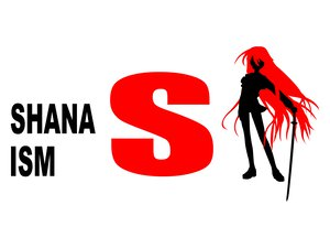 Rating: Safe Score: 18 Tags: logo parody polychromatic shakugan_no_shana shana silhouette sword weapon white User: Oyashiro-sama