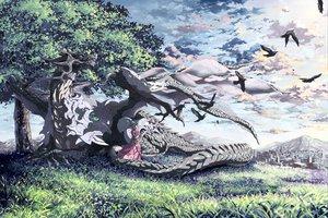 Rating: Safe Score: 40 Tags: dragon tagme umbrella User: w7382001