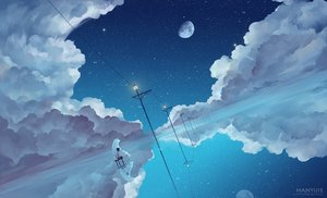 Rating: Safe Score: 178 Tags: animal bear clouds kklaji008 moon original scenic sky stars water watermark User: Flandre93