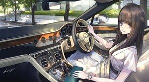 Rating: Safe Score: 29 Tags: blue_eyes blush brown_hair car dress koh_(minagi_kou) long_hair original tree User: BattlequeenYume