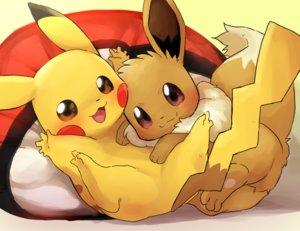 Rating: Safe Score: 13 Tags: dagashi_(daga2626) eevee pikachu pokemon User: otaku_emmy