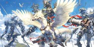 Rating: Safe Score: 53 Tags: animal armor clouds mecha original ribbons robot scarf sky takayama_toshiaki User: RyuZU