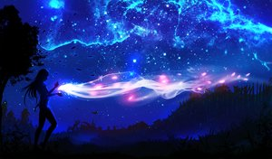 Rating: Safe Score: 202 Tags: landscape magic night original ryky scenic silhouette sky tree User: RyuZU