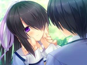 Rating: Safe Score: 69 Tags: blush game_cg hazuki_mikuri sakura_no_reply short_hair User: Maboroshi