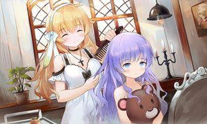 Rating: Safe Score: 38 Tags: 2girls dress harmonia_(key) leilin loli long_hair shiona_(harmonia) teddy_bear tipi_(harmonia) User: BattlequeenYume