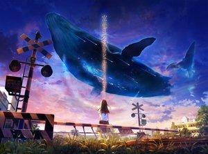 Rating: Safe Score: 83 Tags: animal clouds grass inzanaki original school_uniform sky User: BattlequeenYume