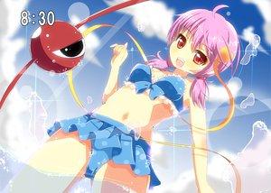 Rating: Safe Score: 54 Tags: bikini blush clouds heart komeiji_satori pink_hair red_eyes short_hair sky summer swimsuit touhou water yuimari User: ガラス