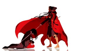 Rating: Safe Score: 55 Tags: black_hair boots cape fate/grand_order fate_(series) hat katana long_hair male military nobukatsu_oda_(fate) nobunaga_oda_(fate) reflection sword tagme_(artist) uniform weapon white User: otaku_emmy
