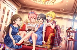 Rating: Safe Score: 53 Tags: annin_doufu couch dress group idolmaster idolmaster_cinderella_girls idolmaster_cinderella_girls_starlight_stage jougasaki_mika miyamoto_frederica necklace nitta_minami otokura_yuuki wristwear User: luckyluna
