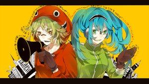 Rating: Safe Score: 48 Tags: blue_hair green_hair gumi hatsune_miku headphones jpeg_artifacts long_hair matryoshka_(vocaloid) popokuri short_hair twintails vocaloid User: Katsumi