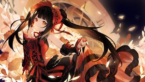 Rating: Safe Score: 66 Tags: bicolored_eyes date_a_live dress godlailer headdress jpeg_artifacts lolita_fashion skirt_lift tokisaki_kurumi twintails User: Flandre93