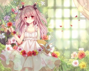 Rating: Safe Score: 81 Tags: blush dress flowers long_hair nozomi_fuuten original petals pink_hair red_eyes ribbons twintails User: Flandre93
