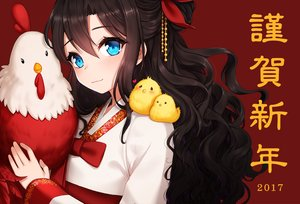 Rating: Safe Score: 81 Tags: ango animal aqua_eyes bird blonde_hair blush japanese_clothes long_hair original User: RyuZU