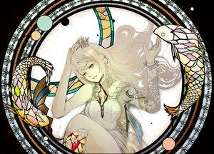 Rating: Safe Score: 35 Tags: blonde_hair blue_eyes crown dress long_hair megurine_luka nine_(plantroom9) vocaloid User: Flandre93