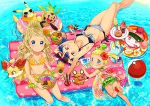 Rating: Safe Score: 66 Tags: barefoot bikini blonde_hair blue_eyes blue_hair bow cat_smile cherry chespin dedenne drink eureka_(pokemon) fennekin fletchling flowers food froakie fruit game_console group ice_cream loli long_hair millefeui_(pokemon) navel pikachu pocky pokemon ponytail red_eyes sasairebun serena_(pokemon) short_hair slurpuff sunglasses swim_ring swimsuit twintails water wristwear zygarde User: FormX