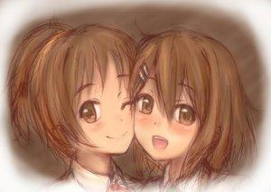 Rating: Safe Score: 26 Tags: brown_eyes brown_hair hirasawa_ui hirasawa_yui k-on! kyuri ponytail sketch User: Ryukenji