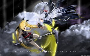 Rating: Safe Score: 30 Tags: cape fate_testarossa mahou_shoujo_lyrical_nanoha red_eyes reinforce sword twintails weapon wings User: Oyashiro-sama