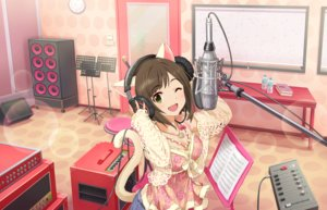 Rating: Safe Score: 38 Tags: animal_ears annin_doufu book catgirl drink headphones idolmaster idolmaster_cinderella_girls idolmaster_cinderella_girls_starlight_stage maekawa_miku microphone necklace tail wink User: luckyluna