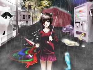 Rating: Safe Score: 52 Tags: animal_ears blood kasei-san knife madotsuki rain rajiwo sekomumasada_sensei uboa umbrella water yume_nikki User: FormX