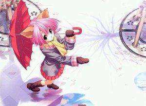 Rating: Safe Score: 36 Tags: animal_ears boots catgirl gloves snow tagme_(artist) umbrella winter User: Oyashiro-sama