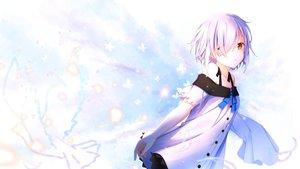 Rating: Safe Score: 55 Tags: aliasing aoi_thomas orange_eyes original purple_hair short_hair User: BattlequeenYume