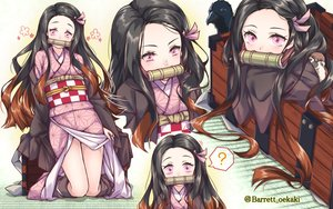 Rating: Safe Score: 46 Tags: animal baretto bird black_hair gag japanese_clothes kamado_nezuko kimetsu_no_yaiba kimono long_hair pink_eyes skirt_lift watermark User: otaku_emmy