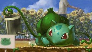 Rating: Safe Score: 28 Tags: bulbasaur close clouds flowers leaves male pokemon sky spareribs sunflower water watermark User: otaku_emmy