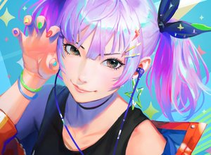 Rating: Safe Score: 71 Tags: close cropped headphones nababa original purple_hair realistic short_hair twintails User: sadodere-chan