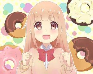 Rating: Safe Score: 46 Tags: blush bow cent-001 food loli long_hair miyano school_uniform tanaka-kun_wa_itsumo_kedaruge User: RyuZU