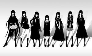 Rating: Safe Score: 341 Tags: amagami ayatsuji_tsukasa black_hair bow breasts cleavage dress enma_ai ga-rei_zero ghost_in_the_shell:_stand_alone_complex gray_eyes hagoromo_kitsune houkago_play isayama_yomi jigoku_shoujo kaibutsu_oujo kamura_reiri kanoe_yuuko kazuhiro_shimazu long_hair monochrome nurarihyon_no_mago parody school_uniform tasogare_otome_x_amnesia tie User: Wiresetc