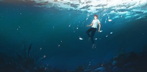 Rating: Safe Score: 29 Tags: all_male hanasei male original underwater water User: FormX