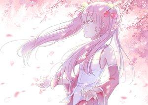 Rating: Safe Score: 73 Tags: aliasing hatsune_miku long_hair mimengfeixue petals pink_hair sakura_miku tie twintails vocaloid User: luckyluna