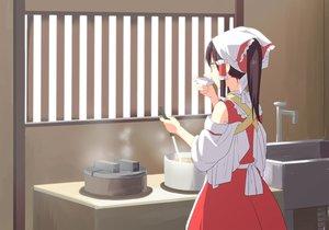 Rating: Safe Score: 34 Tags: apron food hakurei_reimu headdress japanese_clothes leon_7 miko ponytail touhou User: Flandre93