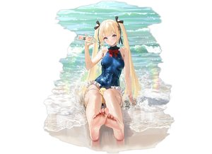 Rating: Safe Score: 118 Tags: animal azur_lane barefoot beach bird blonde_hair blue_eyes crossover dead_or_alive drink leotard long_hair manjuu_(azur_lane) marie_rose twintails water wet yunsang User: BattlequeenYume