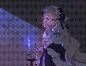 Rating: Safe Score: 65 Tags: arknights blonde_hair blue_eyes dark dress hat horns long_hair nightingale_(arknights) rimsuk User: BattlequeenYume