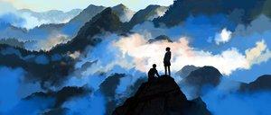 Rating: Safe Score: 46 Tags: clouds hoodie kitsune_(kazenouta) landscape original scenic short_hair User: FormX